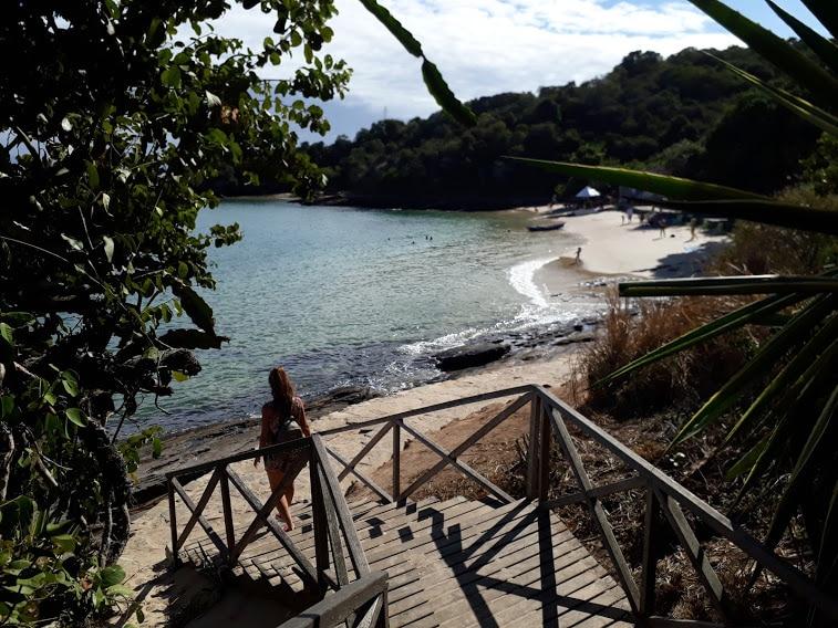 Acceso a la playa de Azeda