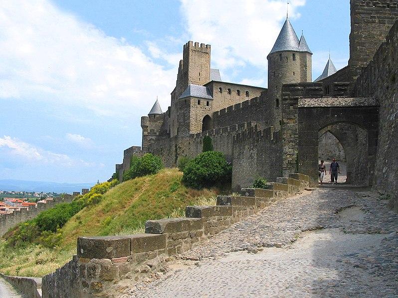 Carcasona, ciudadela, sur de Francia