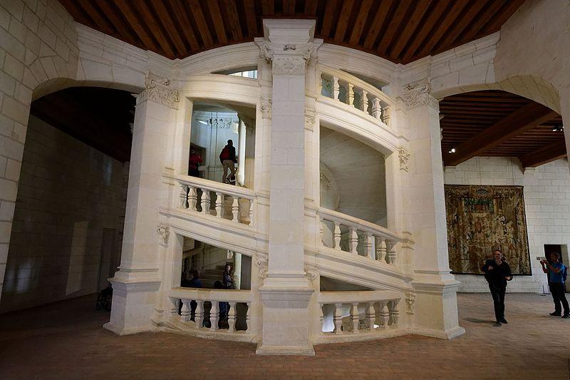 Escalera de doble hélice, castillo de Chambord