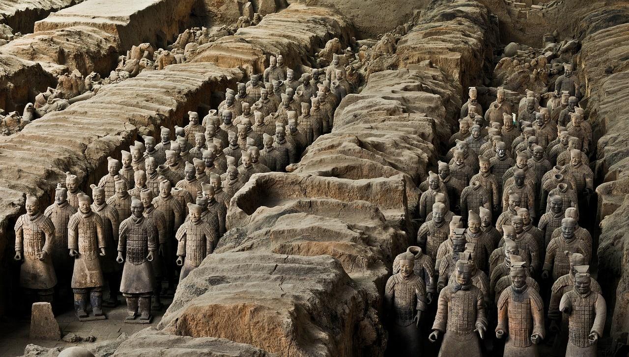 excavación de los Guerreros de Terracota de Xian