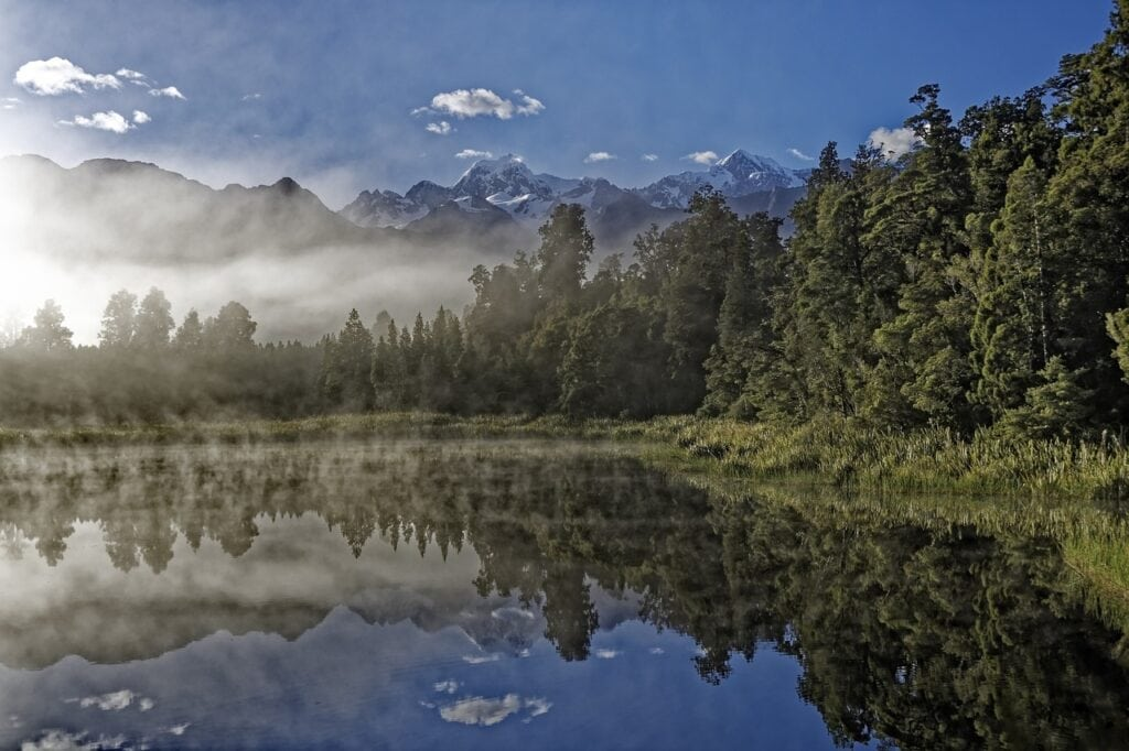 lago Matheson, glaciar Franz Josef