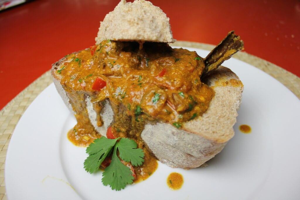 Bunny Chows, una de las comidas más tradicionales de Durban