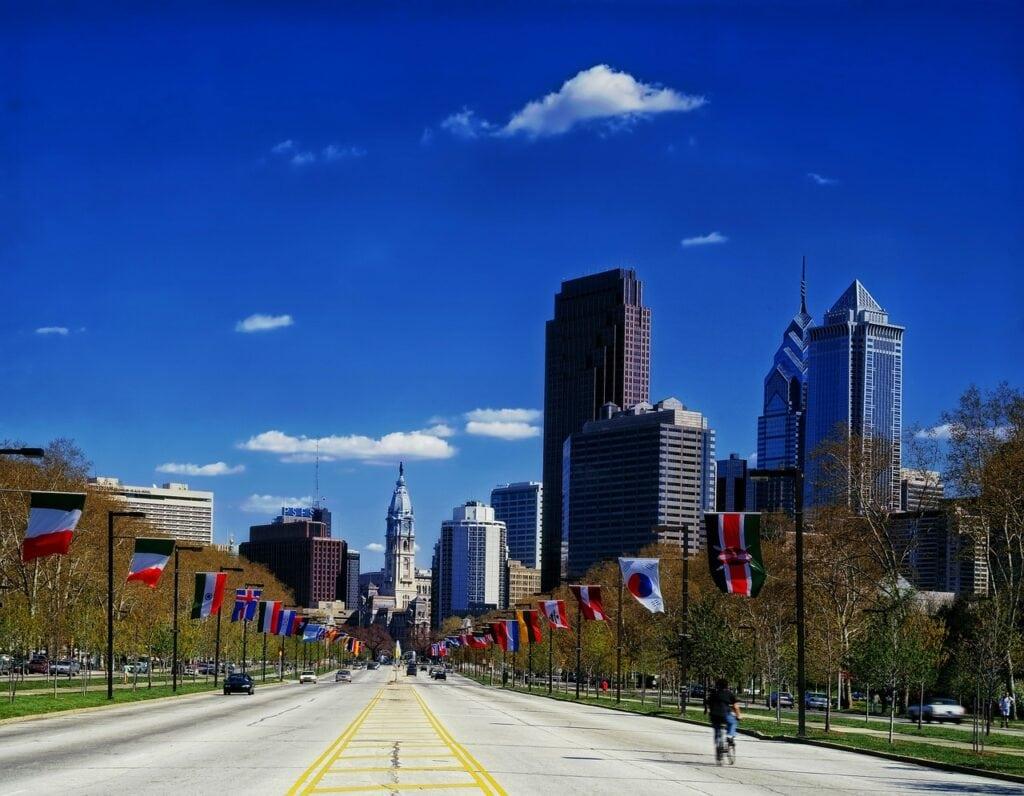 Filadelfia, costa este de Estados Unidos