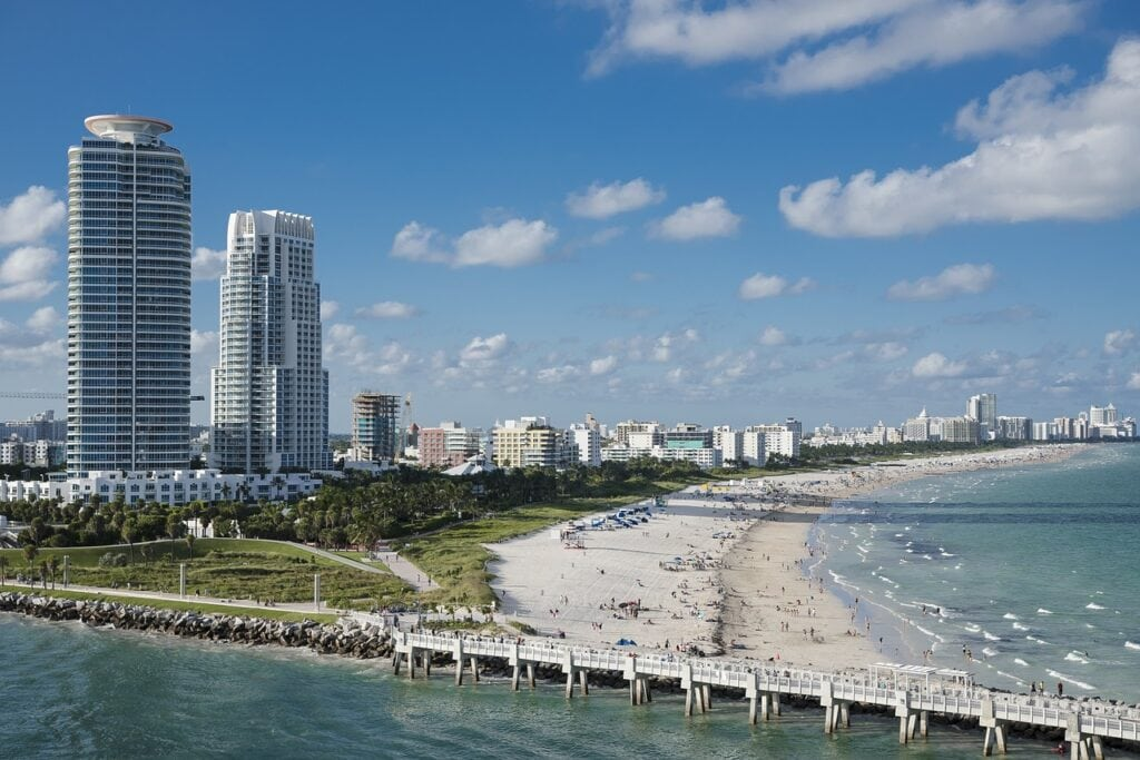 Miami, costa este de Estados Unidos