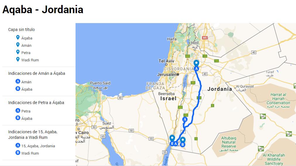 Mapa de Aqaba