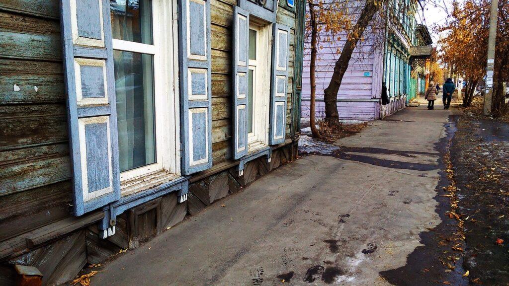 casas de madera de Irkutsk
